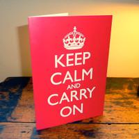 Keep Calm & Carry On Greetings Card