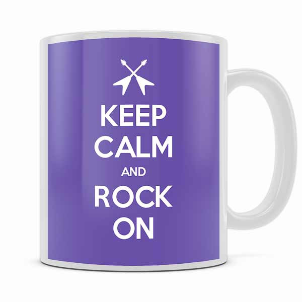 KEEP CALM AND ROCK ON MUG