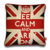 Keep Calm and Carry On Handmade Union Jack Cushion