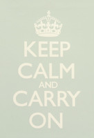Keep Calm & Carry On Sea Green Poster