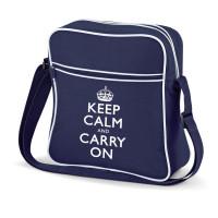 KEEP CALM AND CARRY ON FLIGHT BAG BLUE