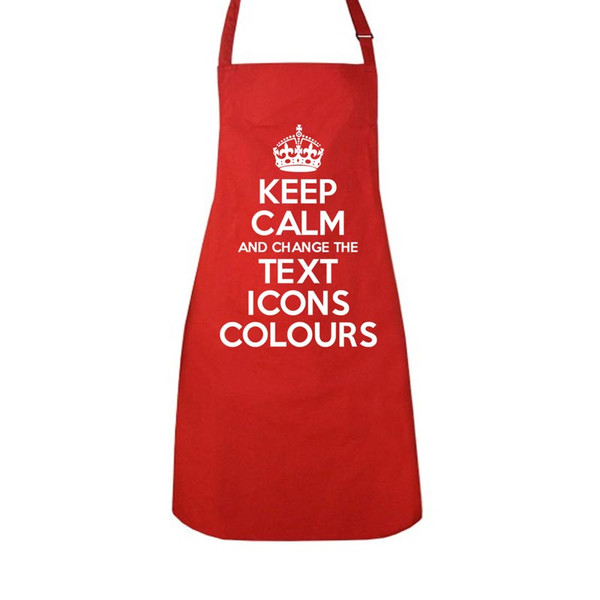 KEEP CALM AND CARRY ON CUSTOMISED APRON