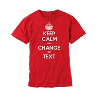 Keep Calm Customised Children's T-shirts