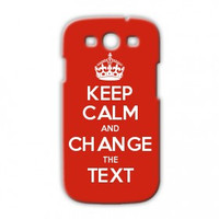Keep Calm Customised Samsung Galaxy S3 case