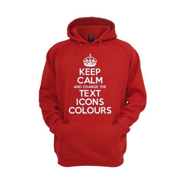 Keep Calm Customised Hooded Tops