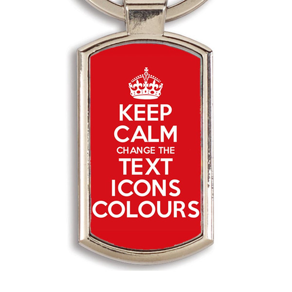 KEEP CALM AND CARRY ON CUSTOMISED KEYRING