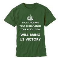 Your Courage Mens Green T-shirt