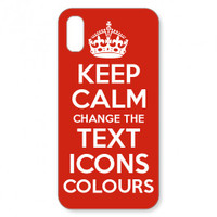 Keep Calm Customised iPhone X case