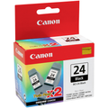 Original Canon Twin Pack BCI-24 Black Ink Tank 6881A010AB