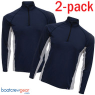 Burke Eden Zip Collar Long Sleeve Sun Shirt TWO PACK