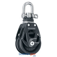 Harken 60 mm Aluminum Element Double Block — Swivel