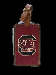 Smathers and Branson Needlepoint Luggage Tag - University of South Carolina