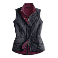 Barbour Cavalry Quilted Gilet - Navy/Red