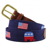Smathers and Branson Republican (Navy) Needlepoint Belt