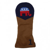 Smathers and Branson Leather Headcover - Republican