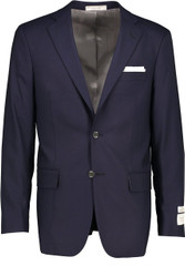 Hardwick Modern Fit Navy H-Tech Super 110'S Wrinkle Resistant Wool Blazer
