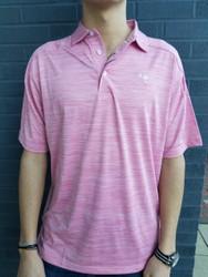 Craig Reagin Melange Palmetto Polo - Rose Pink