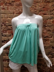 Joy Joy Women's Arm Sash Tube Top - Mint
