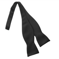 Satin Black Self Tie Bow Tie