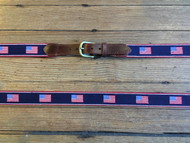 Smathers and Branson American Flag Stripe Belt - Dark Navy