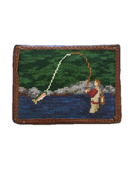 Smathers and Branson Card Wallet - Fly Fishing Scene