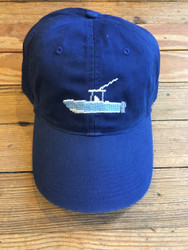 Smathers and Branson Needlepoint Hat - Powerboat (Royal)