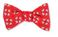 R. Hanauer Silk Bowtie- Red Lacrosse Sticks