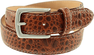 T.B. Phelps El Paso Croco Leather Belt - Rust