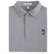 Peter Millar University of South Carolina Jubilee Stripe Performance Polo - Iron (Vault Logo)