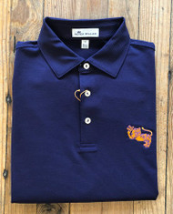 Peter Millar Clemson College Vault Jubilee Stripe Performance Polo - Purple