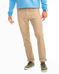 Southern Tide Intercoastal Performance Pant - Sandstone Khaki