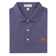 Peter Millar Clemson Vault Logo Scholar Stripe Cotton Polo - Purple