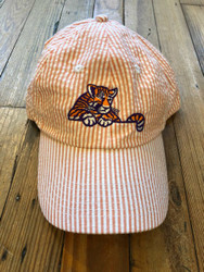 Craig Reagin Clemson Tiger Hat - Orange Seersucker