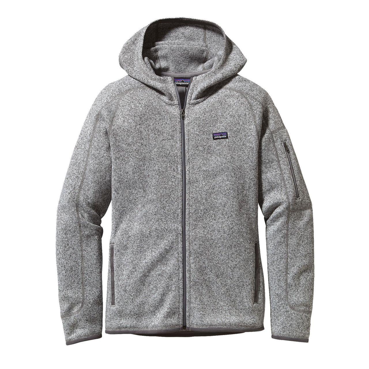 Patagonia Womens Better Sweater Full Zip Fleece Hoody Birch