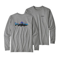 Patagonia Men's Long-Sleeved Fitz Roy Trout Responsibili-Tee® - Gravel Heather