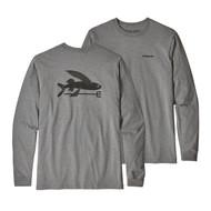 Patagonia Men's Long-Sleeved Flying Fish Responsibili-Tee® - Gravel Heather