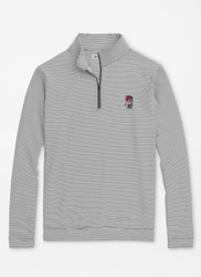 South Carolina Vault Perth Mini-Stripe Stretch Loop Terry Quarter-Zip - Iron/White