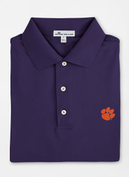 Peter Millar Clemson Solid Performance Polo - Purple