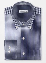 Peter Millar Crown Soft Gingham Sport Shirt - Navy