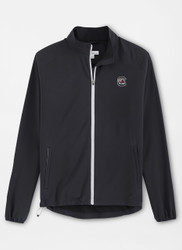 Peter Millar South Carolina Cabot Stretch Woven Full-Zip - Black