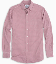 Southern Tide Gameday Gingham - Chianti