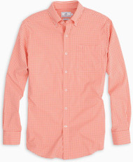 Southern Tide Gameday Gingham - Endzone Orange
