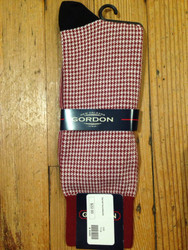 Gordon of New Orleans Team Sock Houndstooth - Garnet
