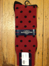 Gordon of New Orleans Team Sock Dot - Garnet and Black