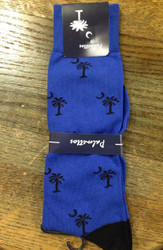 Gordon of New Orleans Palmetto Sock Solid - Royal/Black