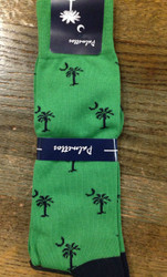 Gordon of New Orleans Palmetto Sock Solid - Green/Navy