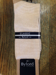 Byford Houndstooth Sock - Khaki