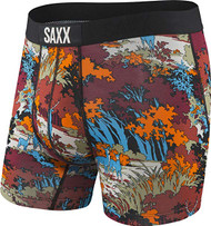 Saxx Vibe Boxer Brief - Red Deep Woods