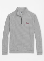Peter Millar University of South Carolina Script Perth Mini-Stripe Stretch Loop Terry Quarter-Zip - Iron