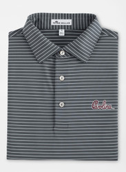 Peter Millar University of South Carolina Script Tuition Stripe Performance Polo - Iron